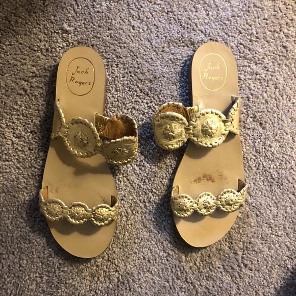 Jack Rogers Shoes - Jack Rogers gold sandals